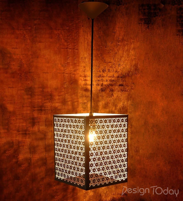 White Metal Valencia Ceiling Light by Montage