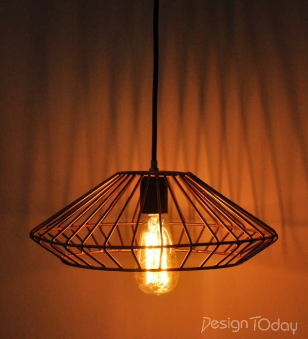 Vintage Cage Ceiling Light by Montage