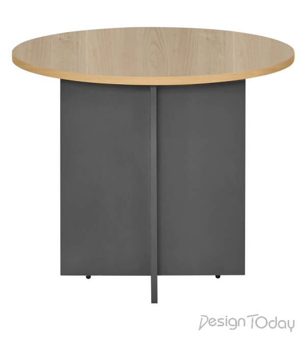 Round Conference Table in Maple Colour by Montage