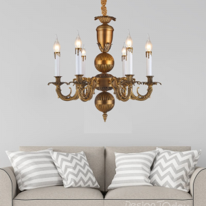 Bronze Metal and Crystal Arabel Chandelier by Montage