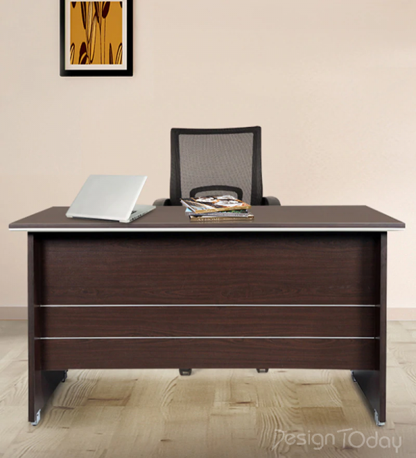 Nova Study cum Reception Table in Wenge Finish