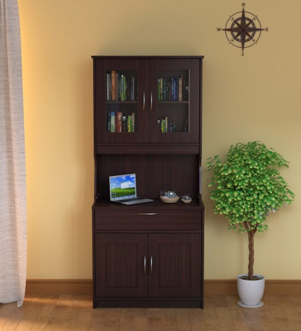 Libya Crockery Unit in Walnut Finish